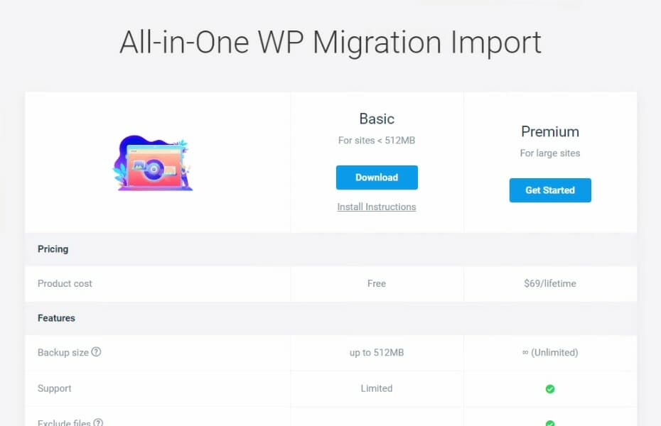 All-in-One WP Migration インポート ブログ引っ越し